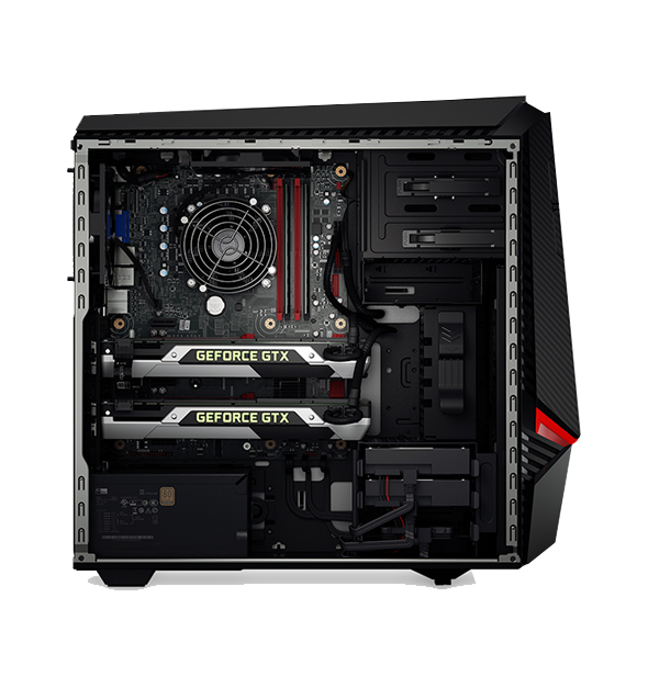 Ideacentre Y900: Tool-Free, Transparent Side Panel