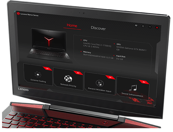 Customize your settings with Lenovo Nerve Center.
