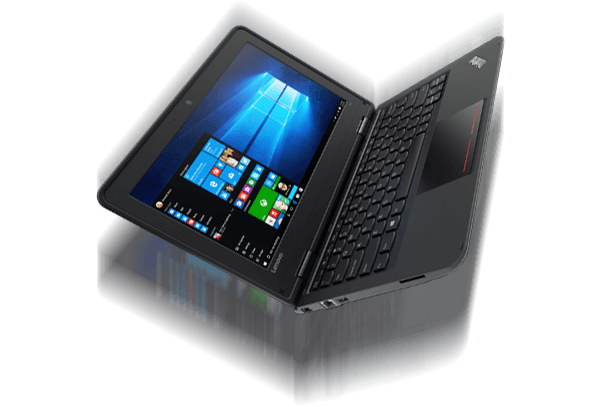 The rugged, durable ThinkPad 11e Laptop