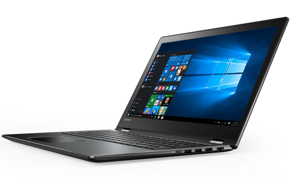 Windows 10 Home is standard on the Yoga 510.