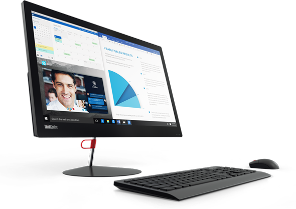 ThinkCentre X1 is optimized for online meetings with microphones that filter out background noise.
