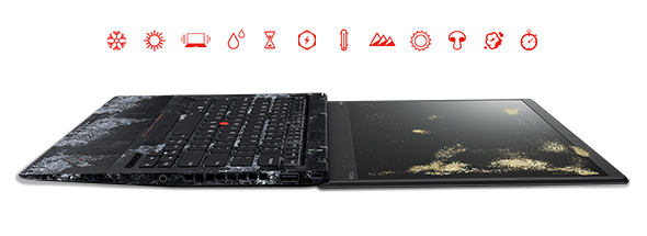 Lenovo ThinkPad X1 Carbon is tested against 12 MIL-SPEC requirements and 200 quality checks.