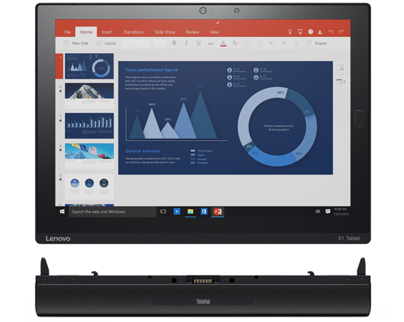 ThinkCentre X1 Tablet with the Productivity Module adds extra ports and boosts battery life