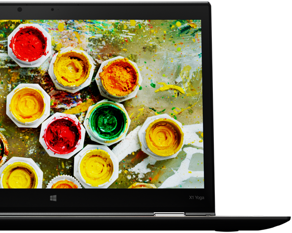 The stunning 2K display renders vibrant images and truer colors.
