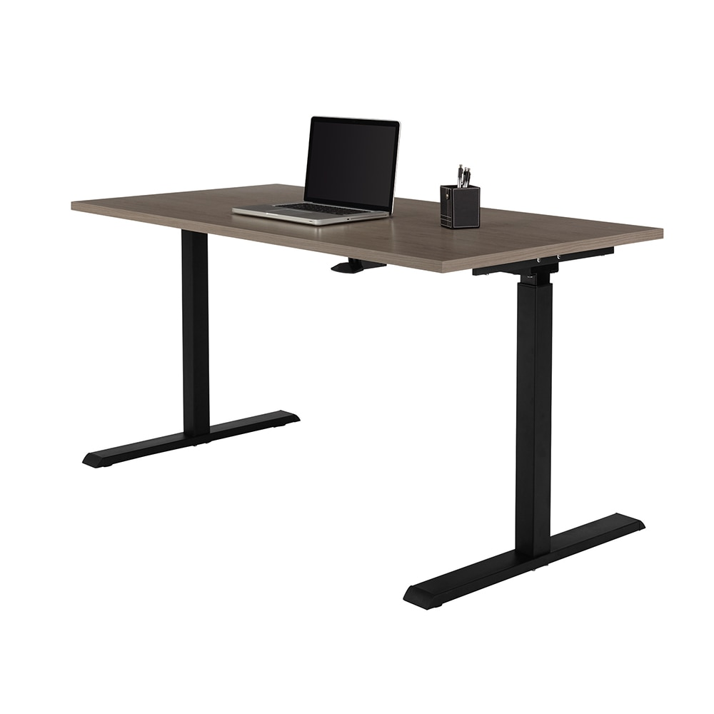 Realspace® Magellan Pneumatic Sit-Stand Height-Adjustable Desk, Gray