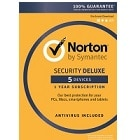 NORTON SECURITY DELUXE - 3 year protection, (Electronic Download) - Norton's best protection for you and your many devices