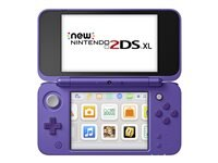 Lenovo New Nintendo 2DS XL - handheld game console - silver, purple Gamers of all ages can play in style with the New Nintendo 2DS XL system. It gives you power in a streamlined package - and plays a huge library of games in 2D.<br />