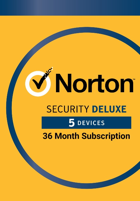Norton Security Deluxe 3 Year Protection Up to 5 devices (Electronic Download)