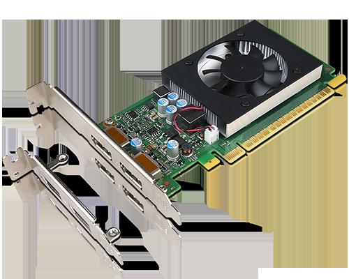 Carte graphique LP et HP  DP double Lenovo GeForce GT730 2 Go