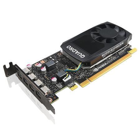 Lenovo 4 cartes graphiques ThinkStation Nvidia Quadro P1000 4 Go GDDR5 Mini DisplayPort avec support compact