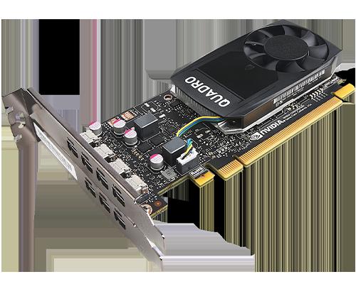 Carte graphique ThinkStation Nvidia Quadro P1000 4 Go GDDR5 Mini DP * 4 avec support HP