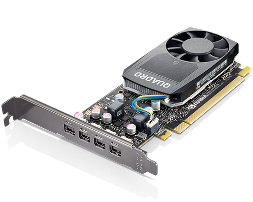 Carte graphique ThinkStation Nvidia Quadro P620 2 Go GDDR5 mini DPx4 avec support HP