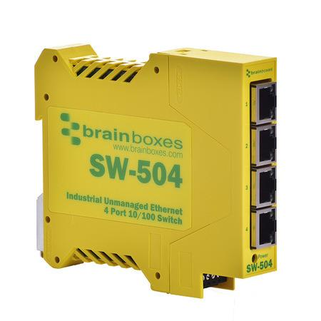 Lenovo Brainboxes Industrial Ethernet 4 Port Switch DIN Rail Mountable