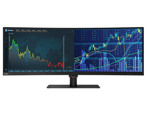 Lenovo ThinkVision P44w-10 43.4 inch 32:10 Curved HDR Monitor