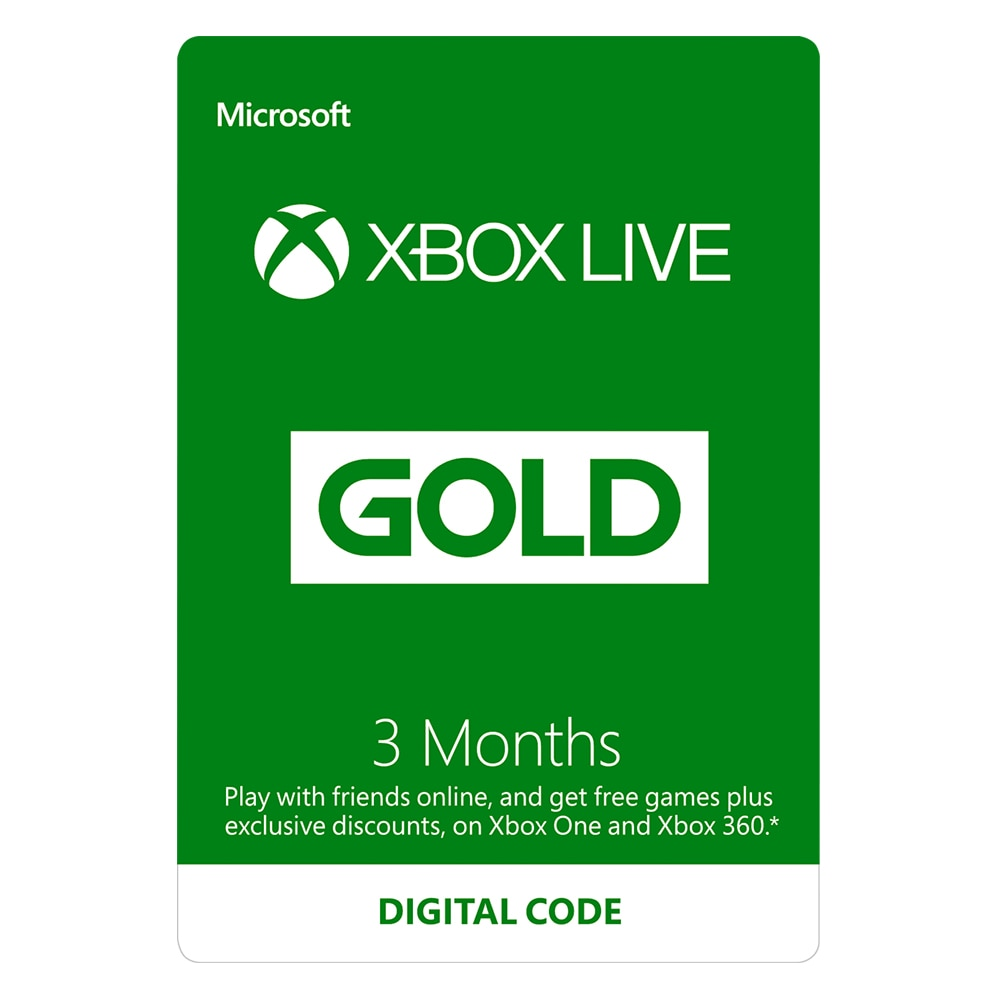 Microsoft Xbox Live Gold Membership - subscription card (3 months) - 1 license