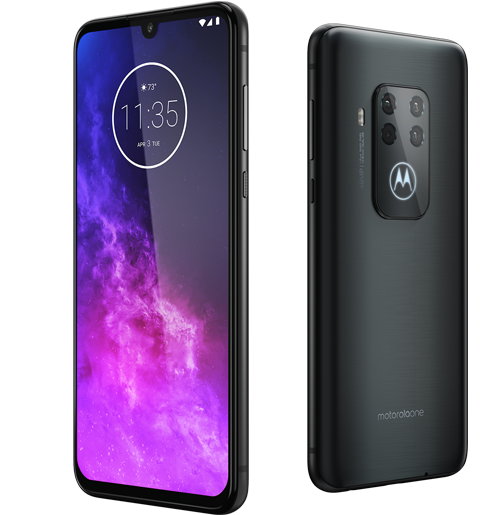 Lenovo PREMIUM: Motorola One Zoom – Electric Gray (Dual SIM) + Yoga Active Noise Cancellation Headphones