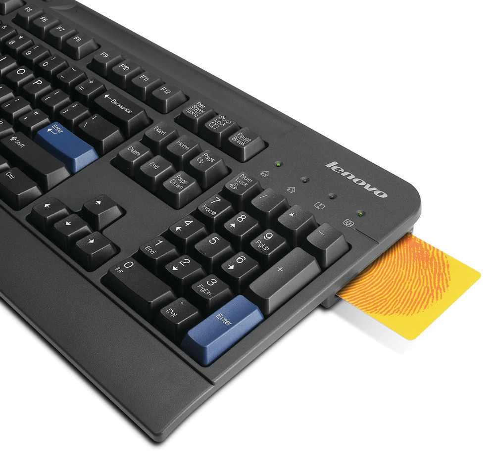 Lenovo USB Smartcard Keyboard - US English with Euro symbol