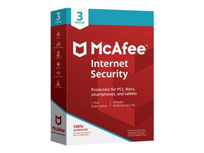 McAfee Internet Security 1 Year, 3 Device  (Electronic Download)