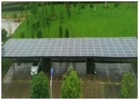 Panneaux solaires sur un abri de voitures à Hefei