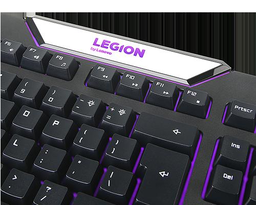 Clavier de jeux rétro-éclairé Lenovo Legion K200 (anglais britannique 166)