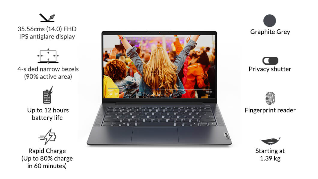"Lenovo IdeaPad 5 (14"", AMD) | 14"" powerful and affordable laptop | Lenovo  India"