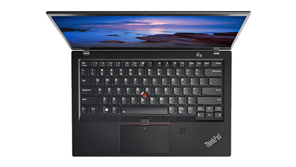 Log in to  the Lenovo ThinkPad X1 Carbon with your face or your fingerprint.
