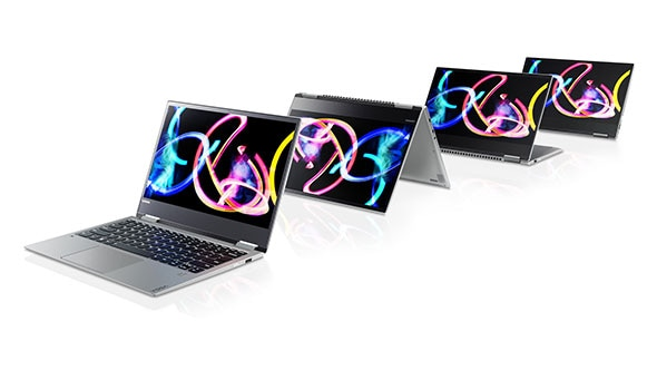 Lenovo Yoga 720 (13) in four different modes
