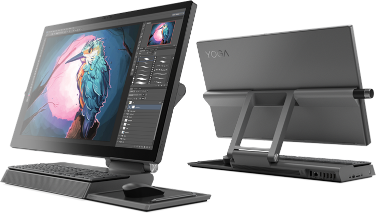 Lenovo Yoga A Series Desktop Front and Back View
