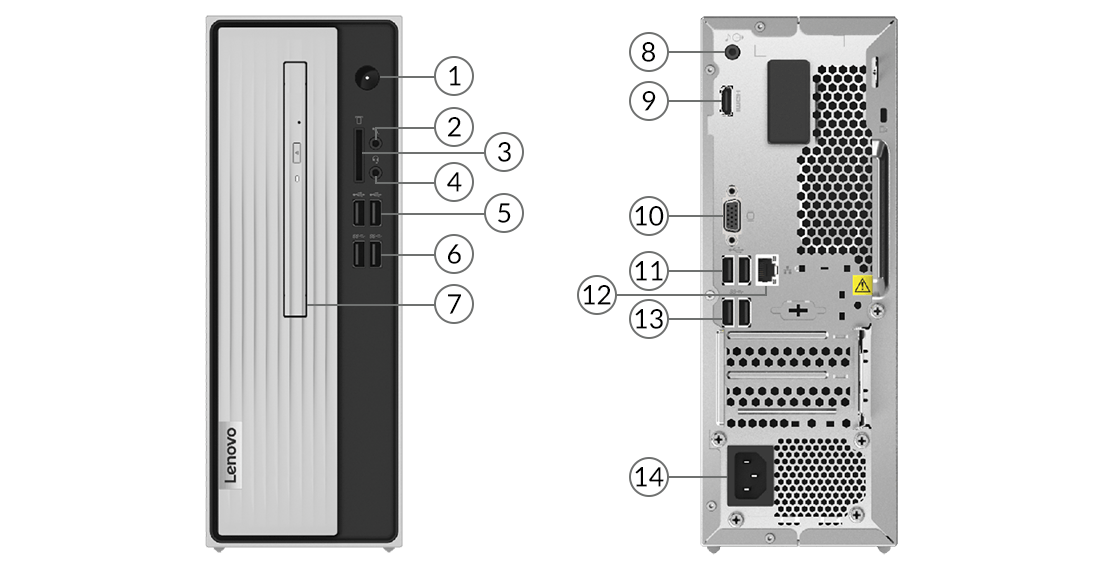 Lenovo IdeaCentre 3(Intel) ports