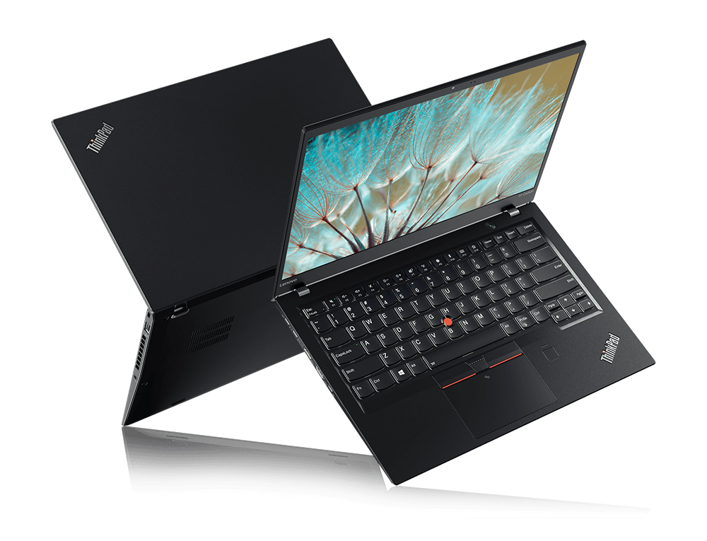 Lenovo ThinkPad X1 Carbon 5th Gen Two Laptops Back-to-back