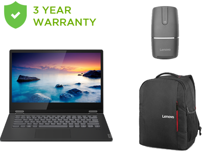 IdeaPad C340 (14'') Bundle </br>  <span style='text-align: center;color: #ff8500;font-size: 90%;'>Includes: Everyday Backpack + Mouse + 3 Yr Onsite Warranty </span>