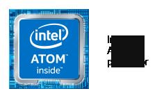 Logo du processeur Intel Atom