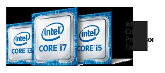 Logo Intel Core i3 i5 i7 7e génération