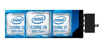 Logo du processeur Intel® Core™ i7 de 8<sup1>e</sup> génération