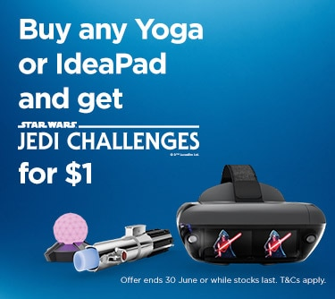 Buy any Yoga or IdeaPad and get JEDI CHALLENGES for ONLY $1.