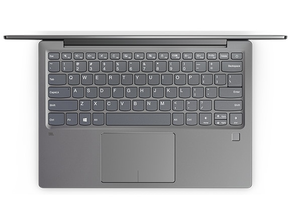 Lenovo Ideapad 720S Overhead View of Keyboard