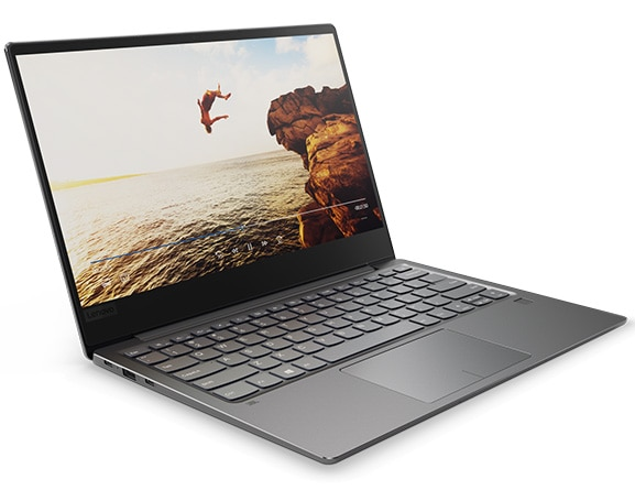Lenovo Ideapad 720S Front Left Side View with Video Playing on Display