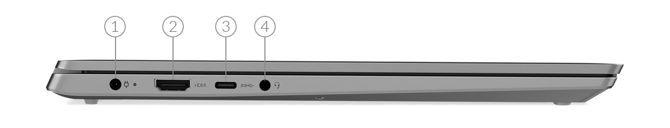 IdeaPad D330 Right Side Ports