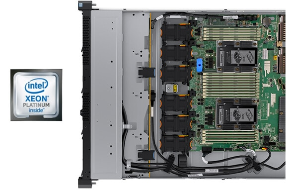 Lenovo ThinkSystem SR570 Internal View with Processors