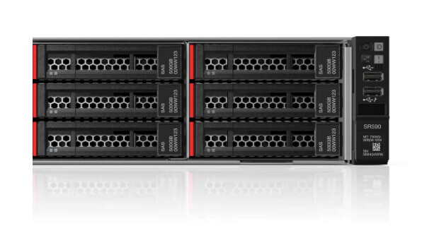 Lenovo ThinkSystem SR590 Ports and Drives