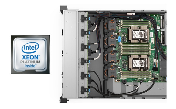 Lenovo ThinkSystem SR590 Internal View with Processors