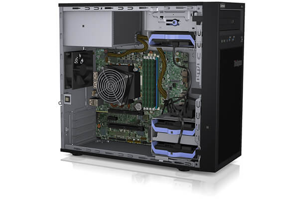 Lenovo ThinkSystem ST50 Internal View with Intel Processors
