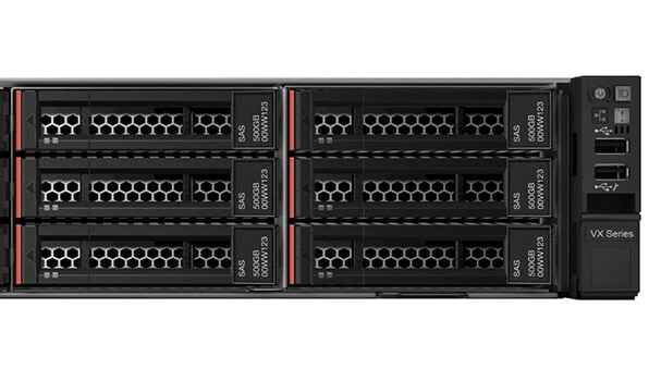 Lenovo ThinkAgile Series VX5520 Detail View of Ports