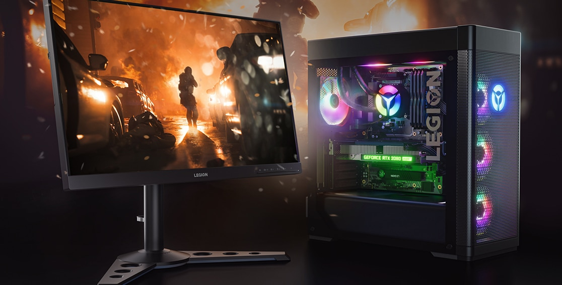 Lenovo Legion Tower 7i Gaming Graphics with Monitor