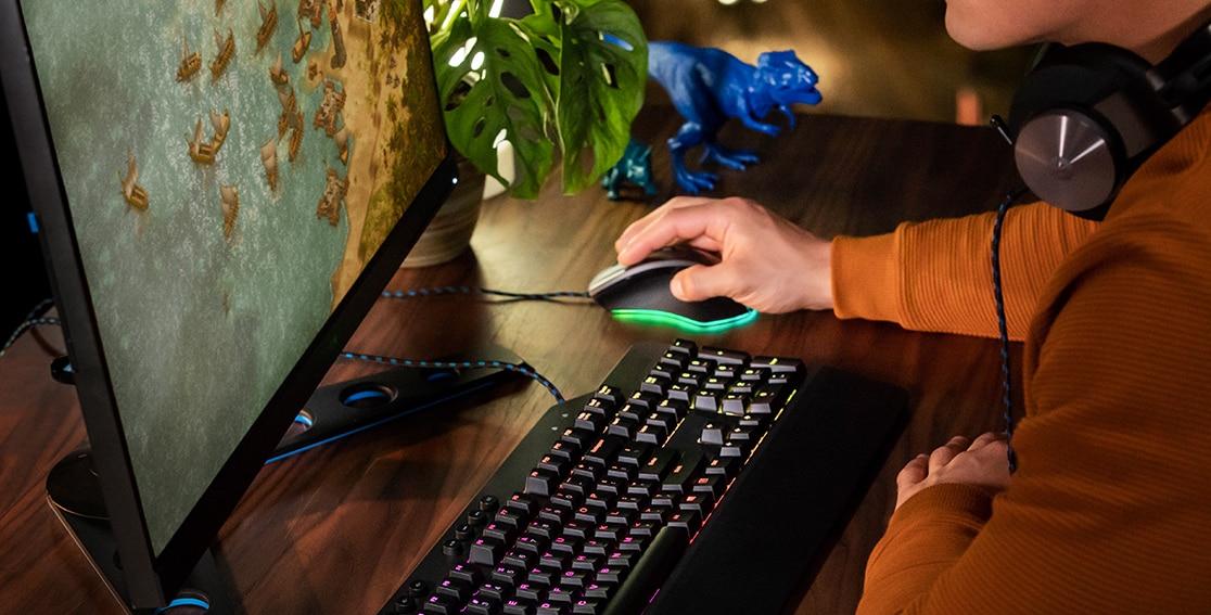 Lenovo Legion Tower 7i Playing Game at Desk