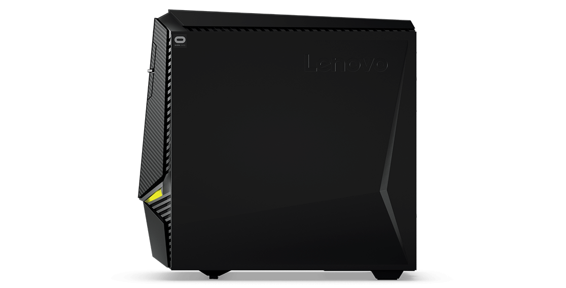 Lenovo Legion Y920 Tower, right side profile view with Lenovo logo