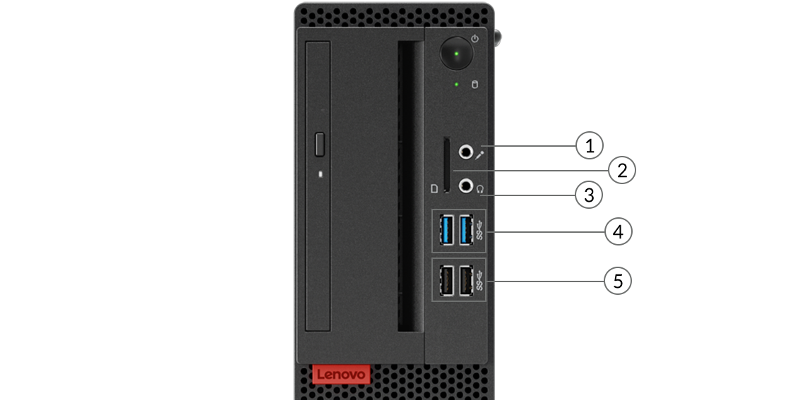 ThinkCentre M725s front ports