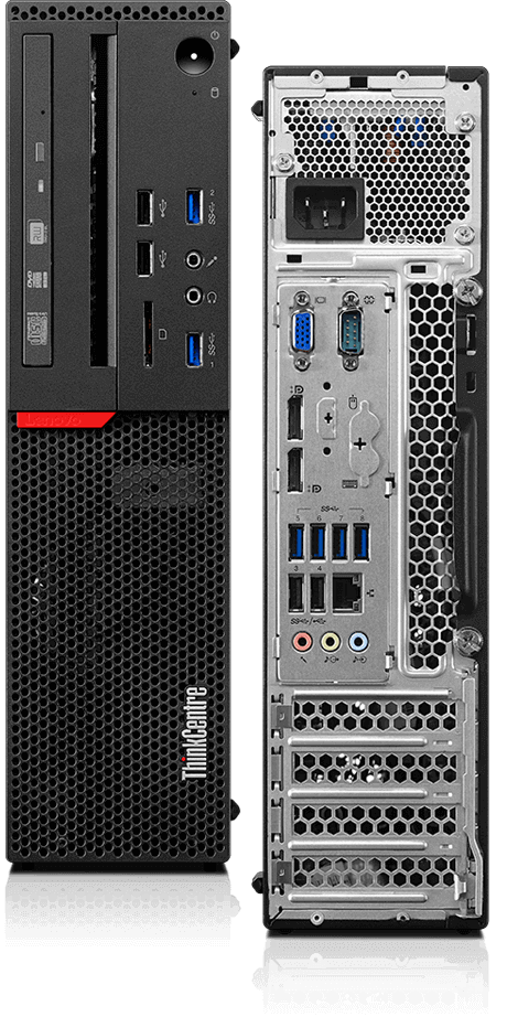 Lenovo ThinkCentre M900 SFF front adn back views