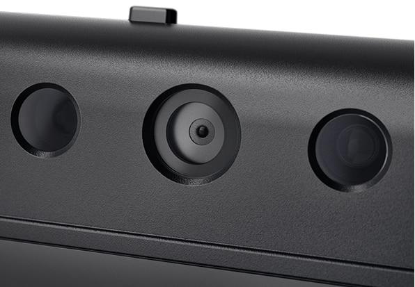 Close up shot of Lenovo ThinkCenter TIO 27 camera