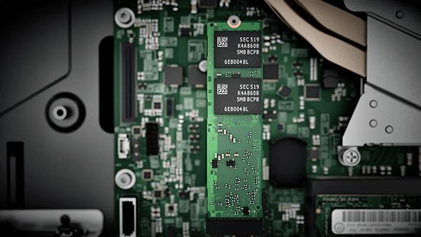 Internal workings of the Lenovo V310z all-in-one.